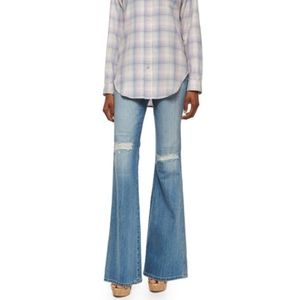Current Elliott Girl Crush Flare Distressed
